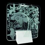 Homenagem a Matisse - Escultura em vidro. Foto Robson Lemos - Super Imagem