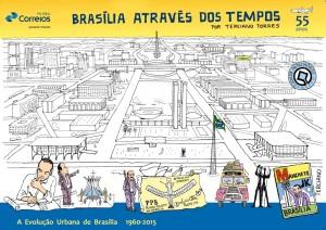 Capa do catálogo Brasília Através dos Tempos