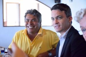Gerino Xavier, presidente do Seprope, e Italo Nogueira, presidente da Assespro PE