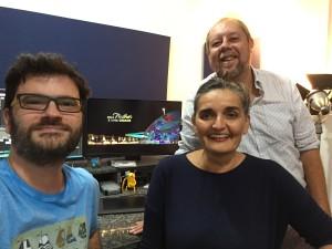 André Farkatt, Tactiana Braga e Camerino Neto, diretores do doc sobre Marianne Peretti