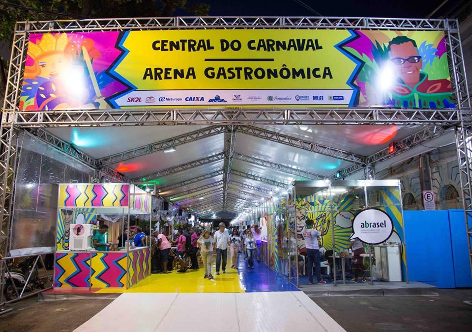 Arena Gastronômica do Carnaval 2018. Foto Daniel Prates