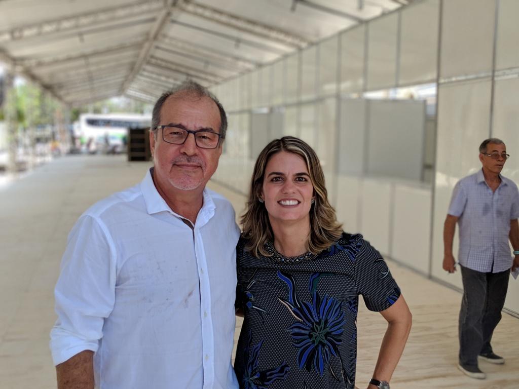 André Luiz Araújo, presidente da Abrasel PE  e Ana Paula Vilaça, Secretária de Turismo do Recife . Foto Lula Portela.